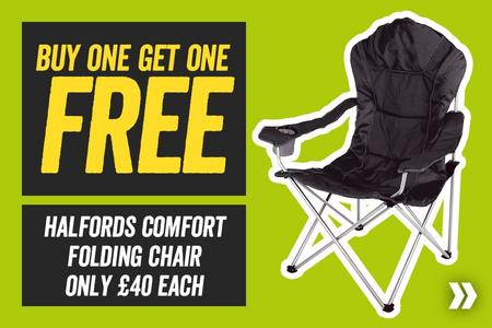 Buy One Get One Free Halfords Comfort Folding Chair