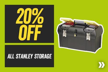 20% Off All Stanley Storage