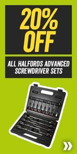 20% Off All Halfords Advanced Screwdriver Sets