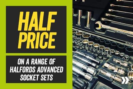 Half Price on a Range of Halfords Advanced Socket Sets
