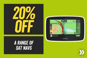 Save 20% off a Range of Sat Navs