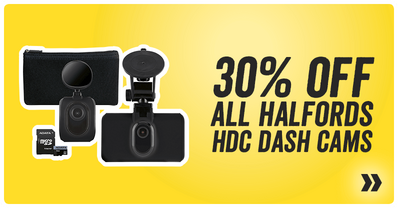 30 percent off all Halfords HDC dash cams