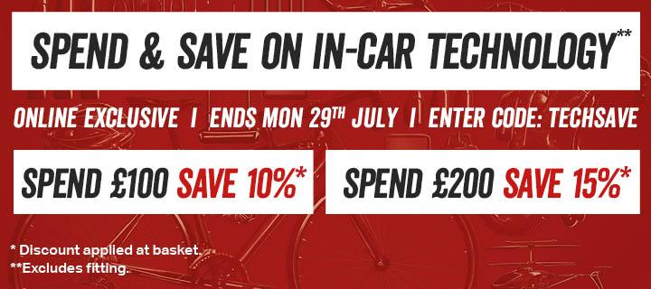 Spend and Save on in-car technology