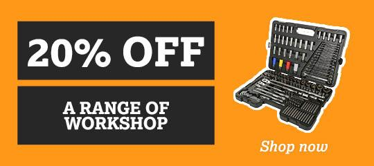 20% off a range of workshops