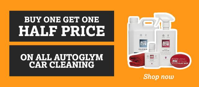 Buy One Get One Half Price on Autoglym Car Cleaning
