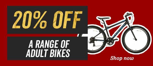 20 percent a range of adult bikes
