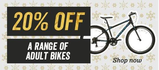 20 percent off a range of adult bikes