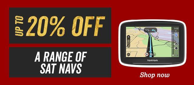 20% off a range of Sat Navs