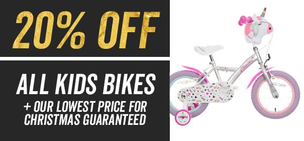 20 percent off all kids bikes