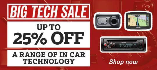 Up To 25% Off In Car Technology Sale