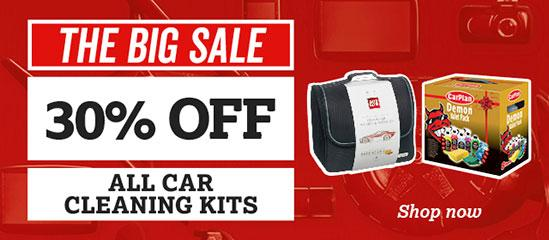 30% off all Car Cleaning Kits