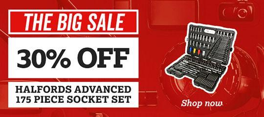 30% off Halfords Advanced 175 piece socket sets