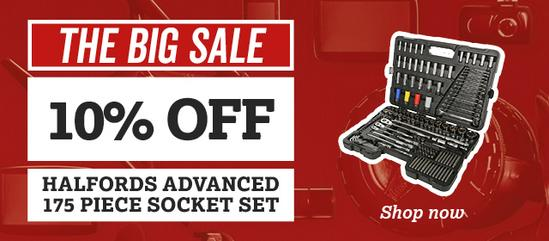 10% off Halfords Advanced 175 piece socket sets