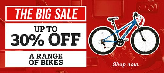 Up to 30% off a range of bikes