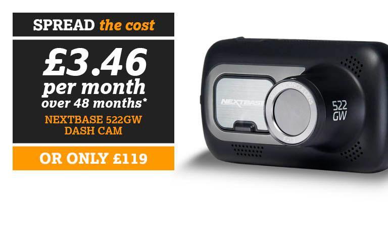 SPREAD THE COST Nextbase 522gw Dash Cam