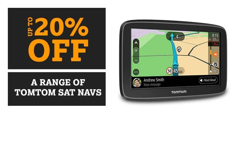 Up to 20% off a range of Sat Navs