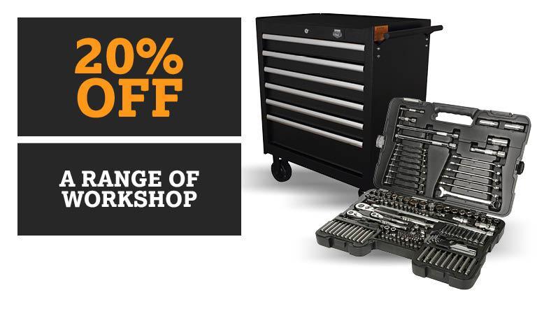 20% off a range Workshop