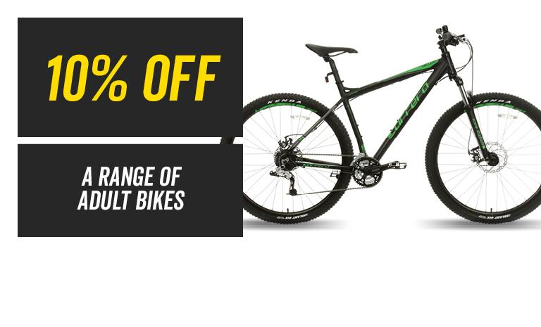 10% off a range Adult Bikes