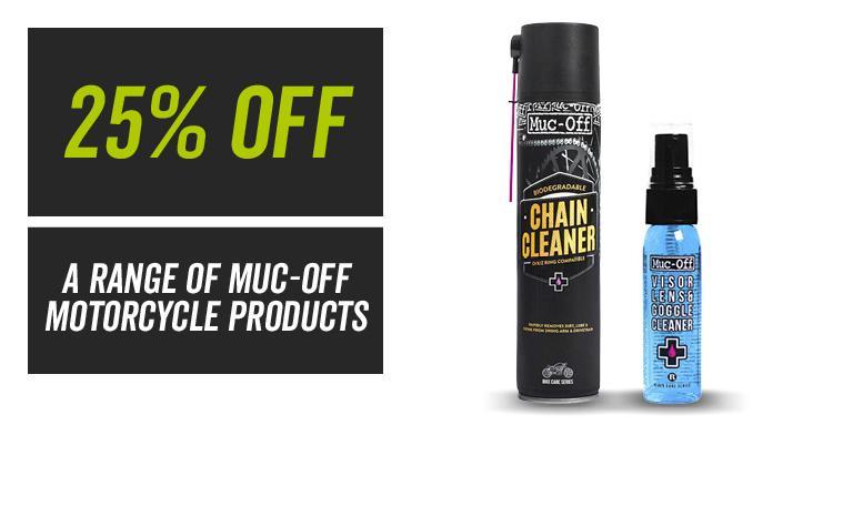 25% off a range of muc off
