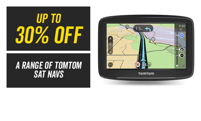 Up to 30% off a range of sat navs