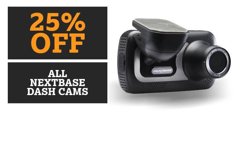 25% off all nextbase dash cams