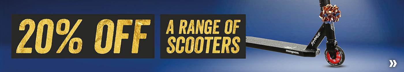20 Percent Off A Range of Scooters