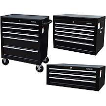 image of Halfords Tool Chest and Cabinet Bundle