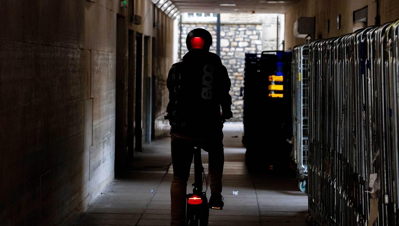 Helmet with rear light
