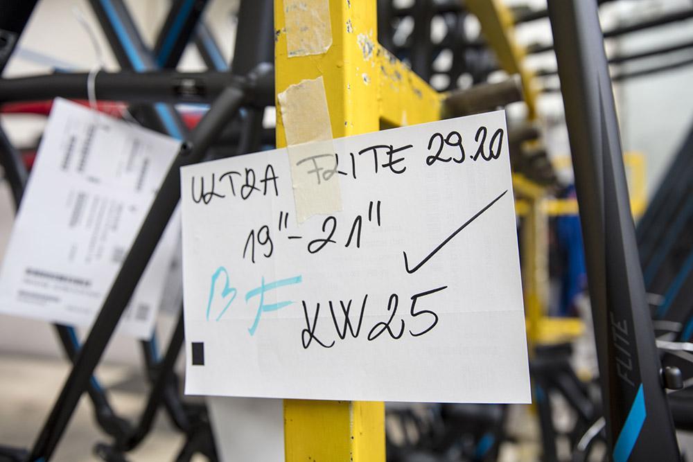 Batch labelling at KTM
