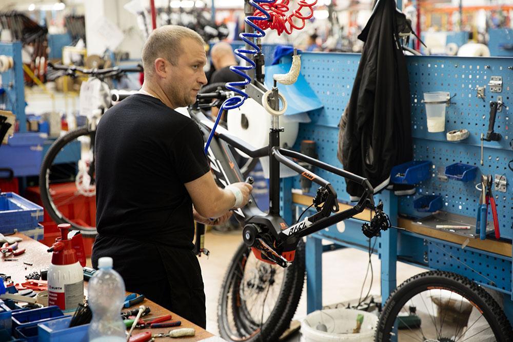 Bike building process