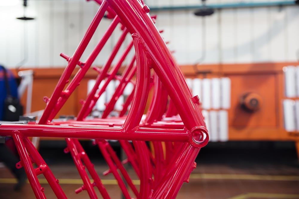 Painted KTM frame