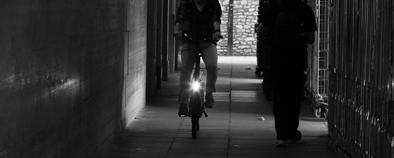 Lights on folding electric bike