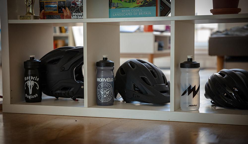Morvelo bottles in office
