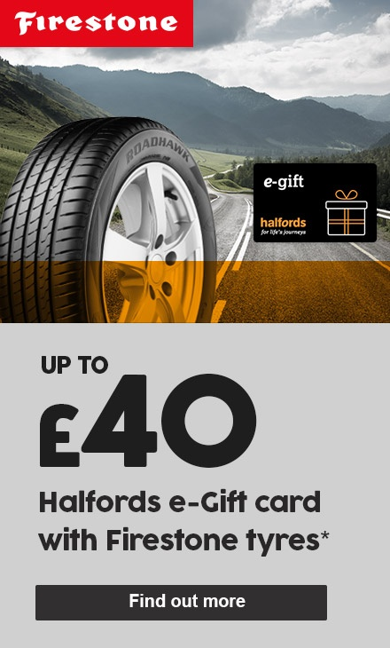 Up to £40 Halfords voucher with Firestone tyres