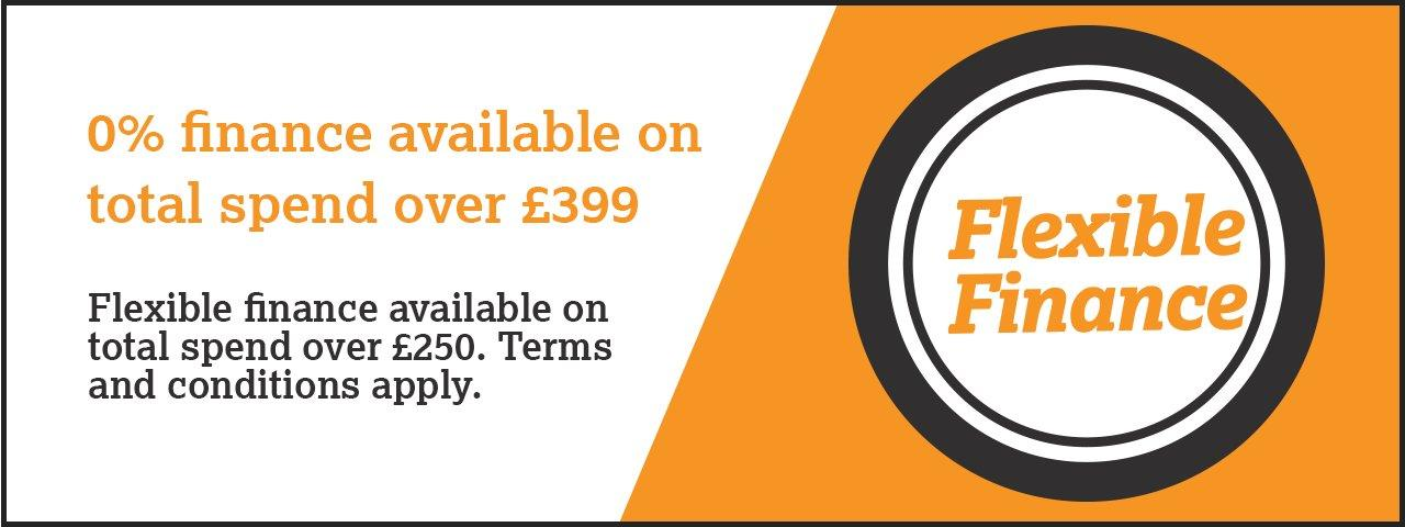 Available on total spend over £399 - terms and conditions apply
