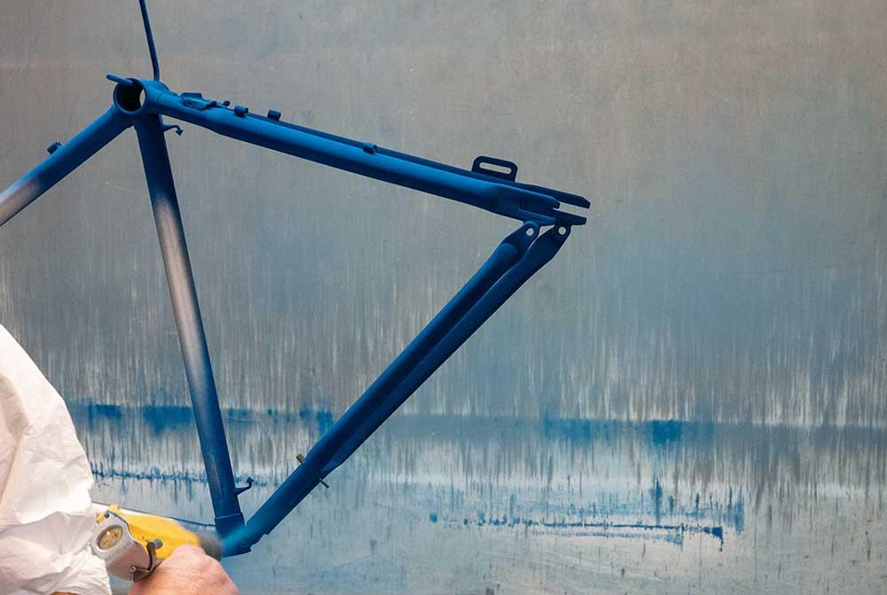 A Pashley frame is powder coated