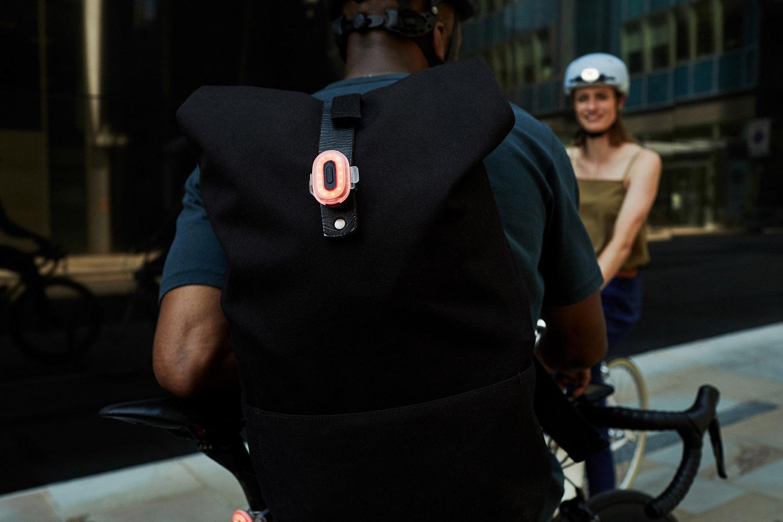 Rear light on bag