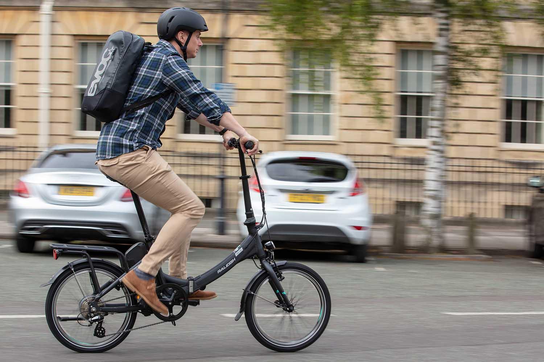 Riding a folding electric bike