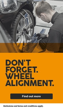 Don't forget your wheel alignment - £29.99