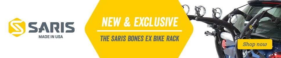 New and Exclusive - The Saris Bones Ex has the largest vehicle compatibility of any rear fitting rack on the market
