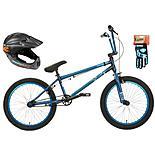 Mongoose Scan R90 BMX bike, Helmet & Gloves bundle