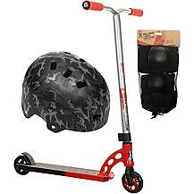 image of MGP VX7 Pro Stunt Scooter, Helmet And Pad Set Bundle