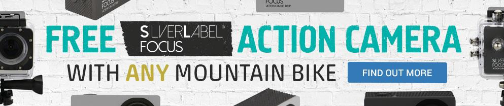 Free Silverlabel Action Camera with any Mountain Bike