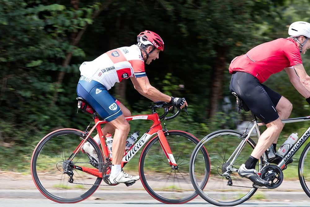 Road bike on a sportive