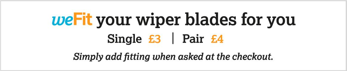 weFit your wiper blades