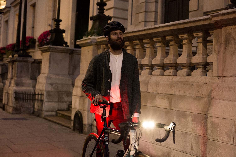 Walking with bike lights
