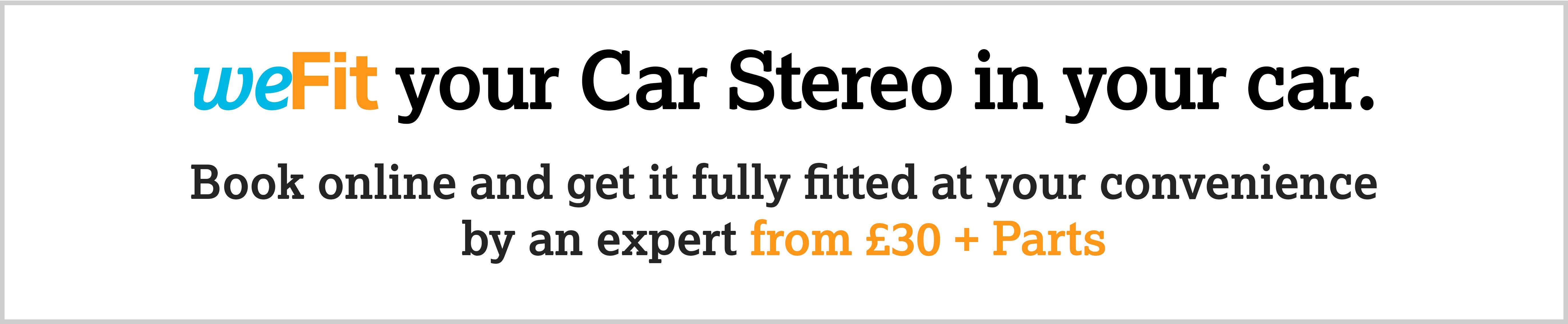 weFit your car stereo
