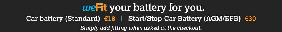 We fit Car batteries