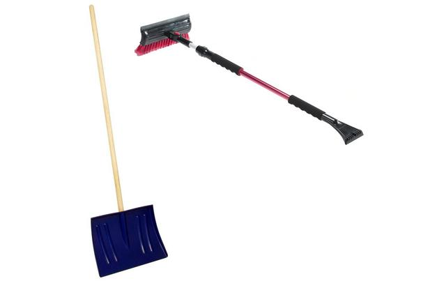 Halfords Telescopic Snow Broom, Scraper & Shovel