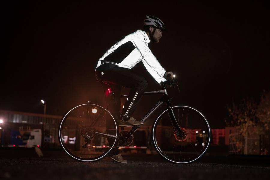 reflective cycling jacket